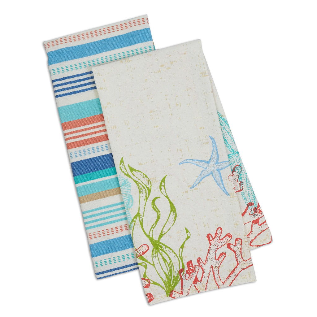 Wholesale Lagoon Dishtowel Set of 2 - DII Design Imports