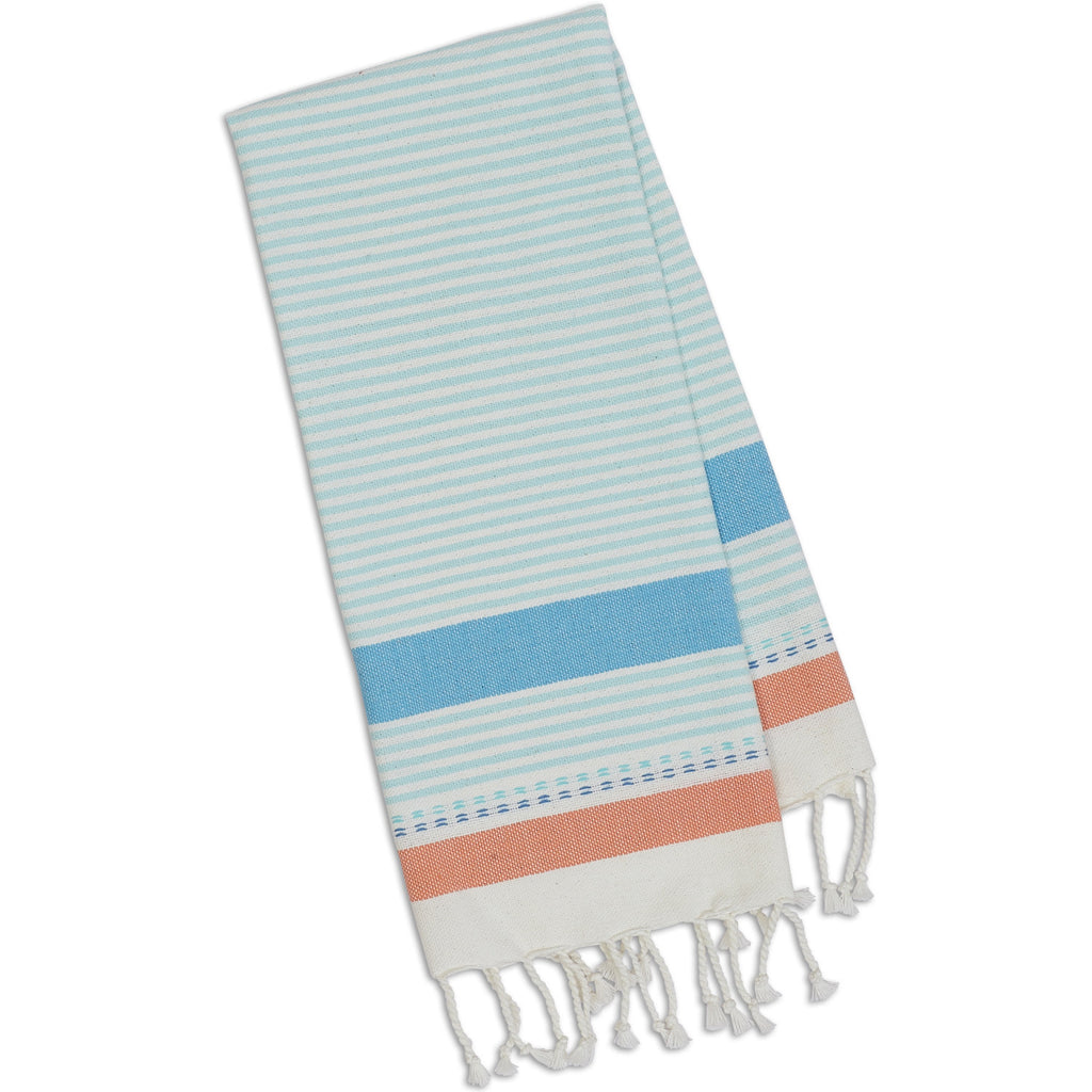 Wholesale Cool Water Stripe Fouta Towel - Small - DII Design Imports