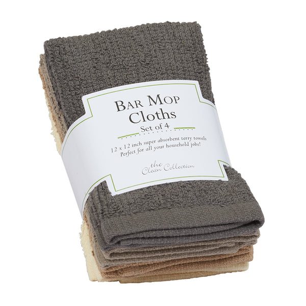 Neutral Bar Mop Dishcloth Set of 4