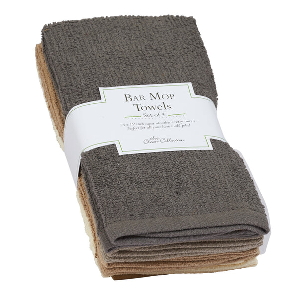 Neutral Bar Mop Towels Set of 4