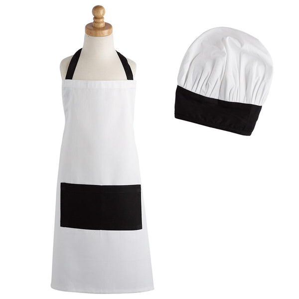 Black and White Children's Chef Gift Set - DII Design Imports