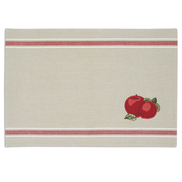 Apple Embellished Placemat - DII Design Imports