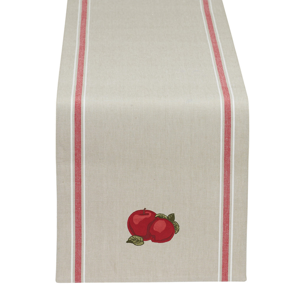 Apple Embellished Table Runner - DII Design Imports