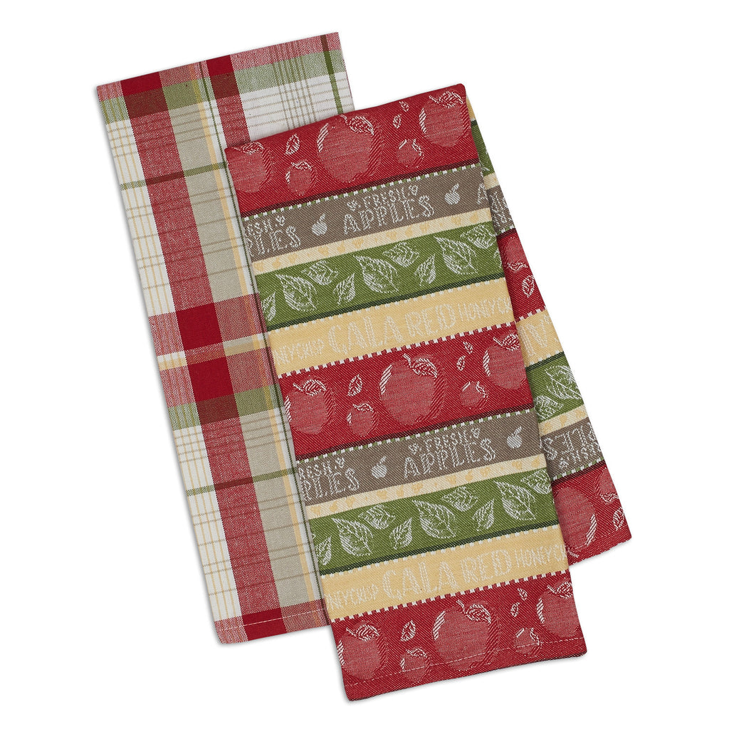 Wholesale Fresh Apples Dishtowel Set of 2 - DII Design Imports