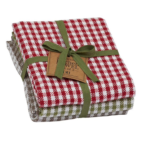 Orchard Checks Dishtowel Set of 3 - DII Design Imports