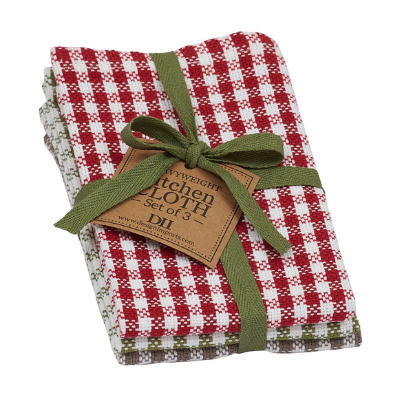 Wholesale Orchard Checks Dishcloth Set of 3 - DII Design Imports