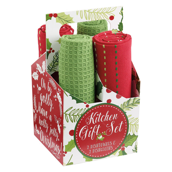 Boughs of Holly Kitchen Gift Set