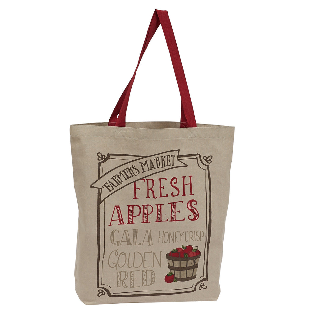 Wholesale Fresh Apples Printed Tote - DII Design Imports