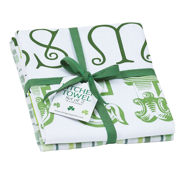 Wholesale St. Patrick's Day Dishtowel Set of 2 - DII Design Imports
