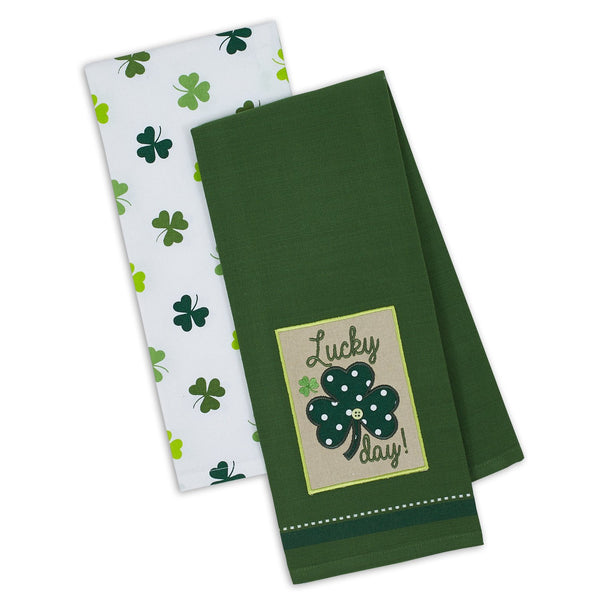 Lucky Shamrock Dishtowel Set of 2 - DII Design Imports