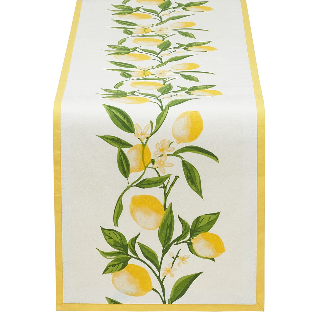 Lemon Bliss Printed Table Runner - DII Design Imports