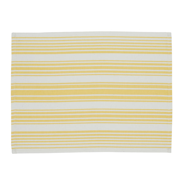 Lemon Zest Stripe Placemat - DII Design Imports
