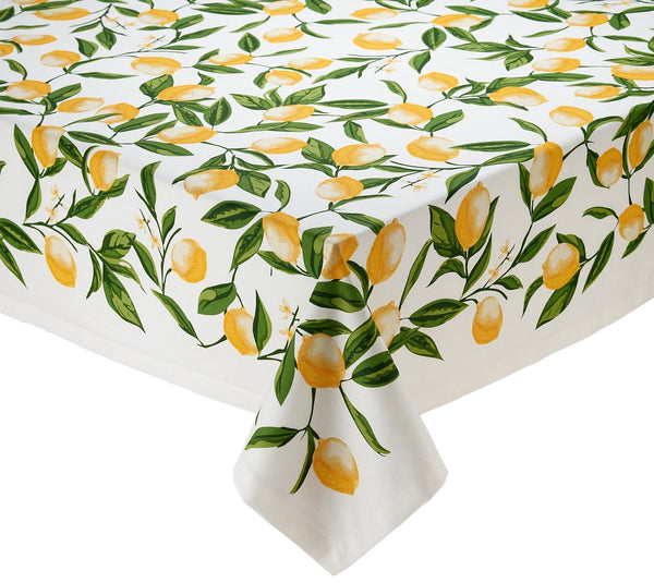 Wholesale Lemon Bliss Printed Tablecloth   DII Design Imports