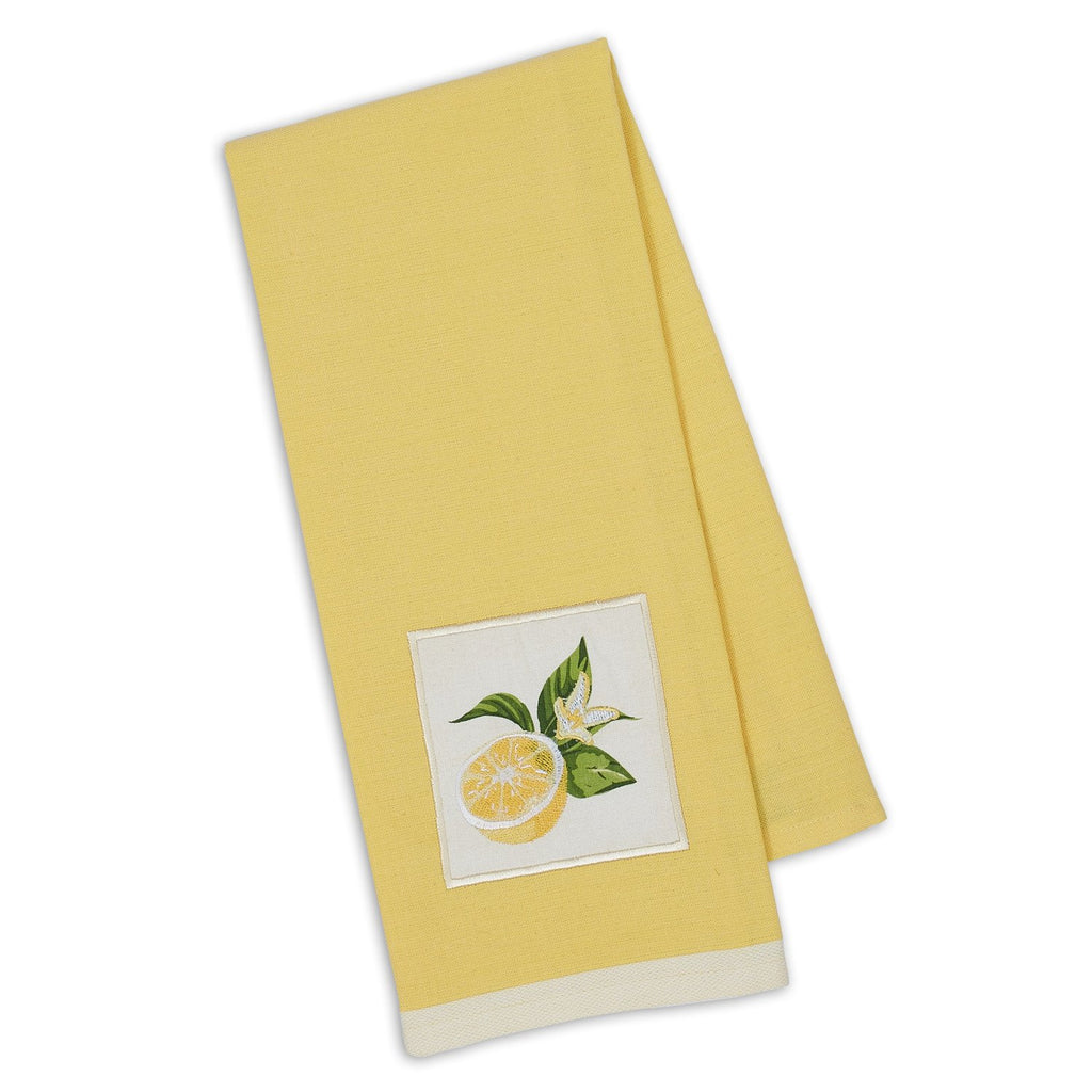 Lemon Sliced Embellished Dishtowel - DII Design Imports