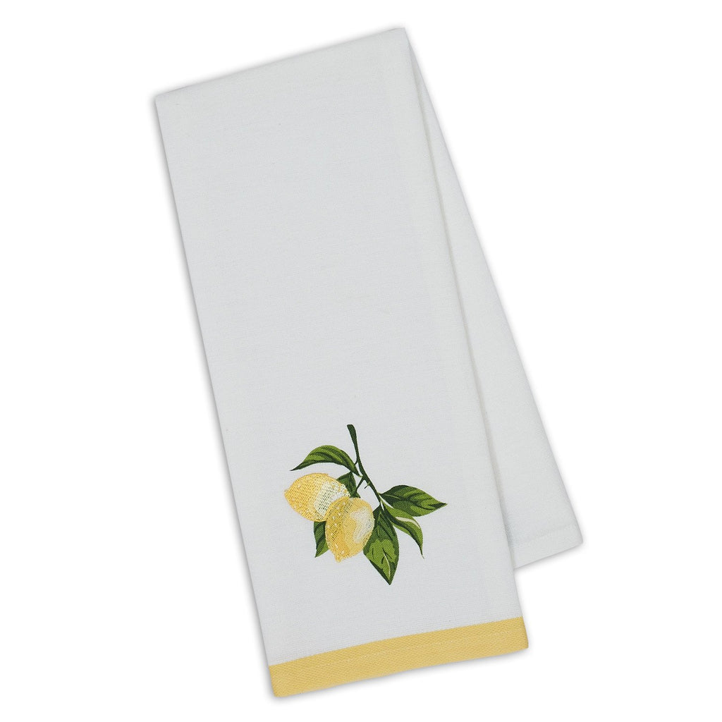 Lemon Branch Embellished Dishtowel - DII Design Imports