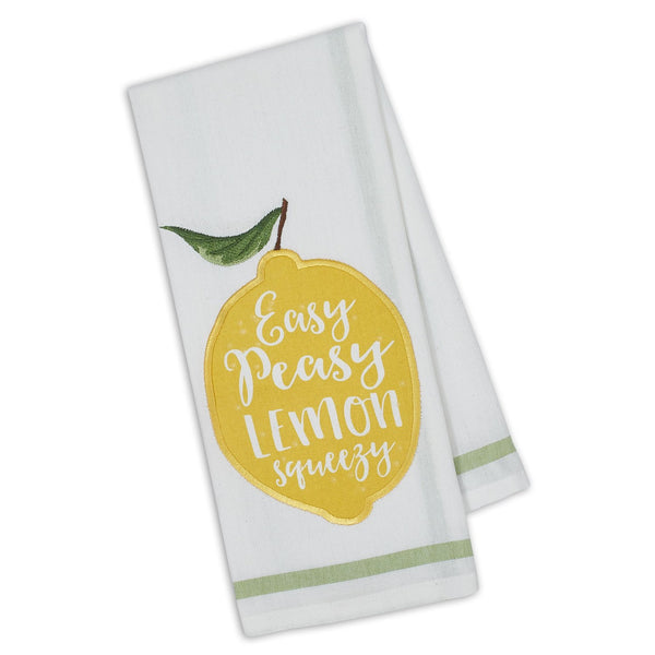 Wholesale Lemon Squeezy Embellished Dishtowel - DII Design Imports
