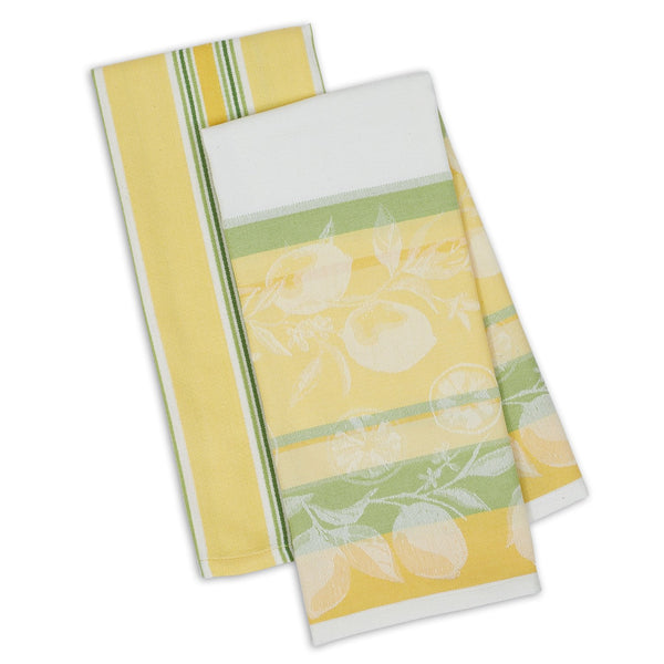 Riviera Lemons Dishtowel Set of 2 - DII Design Imports