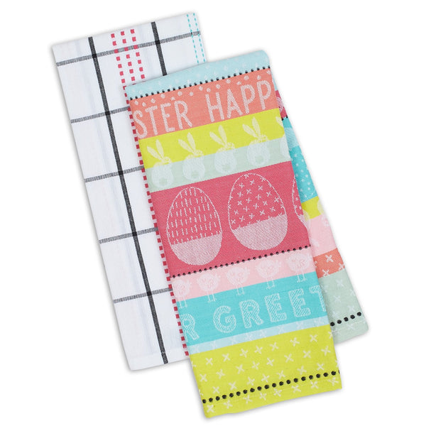 Wholesale Easter Greetings Dishtowel Set of 2 - DII Design Imports