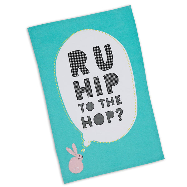 Wholesale Hip to the Hop Embellished Dishtowel - DII Design Imports