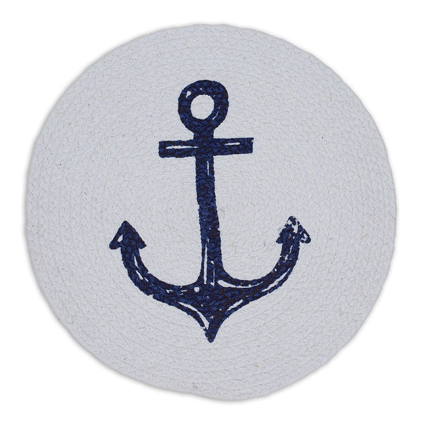 Anchor Print Braided Placemat - DII Design Imports
