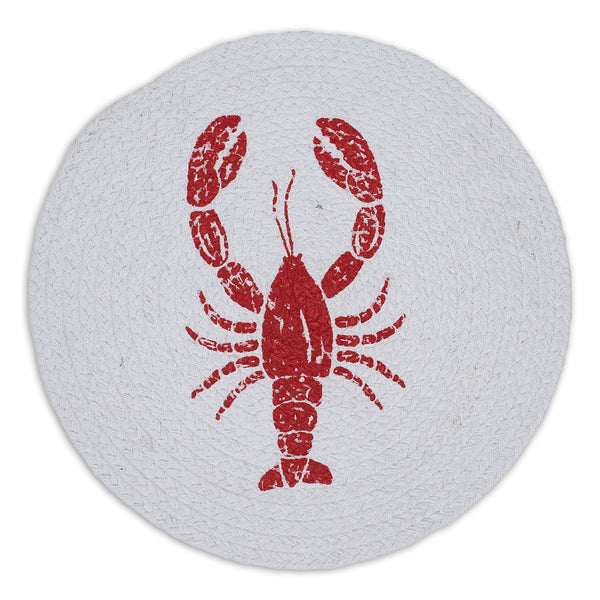 Lobster Print Braided Placemat - DII Design Imports