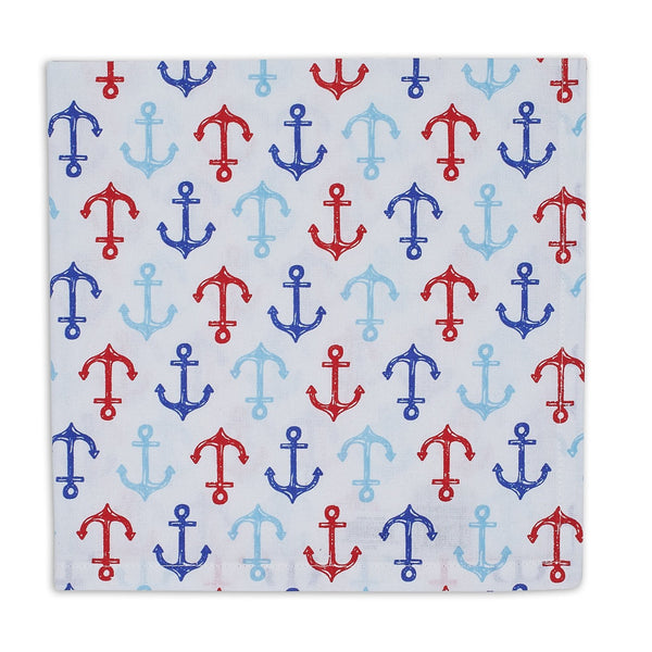 Wholesale Nauti Anchors Printed Napkin - DII Design Imports