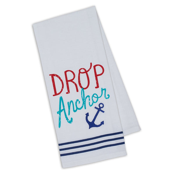 Drop Anchor Embellished Dishtowel - DII Design Imports