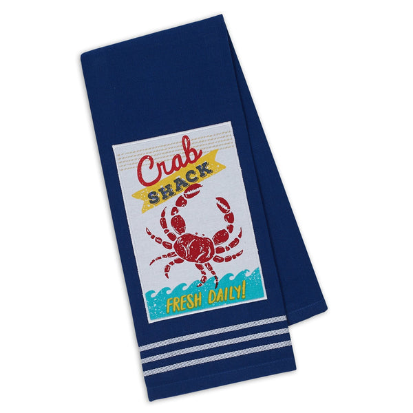 Crab Shack Fresh Embellished Dishtowel - DII Design Imports