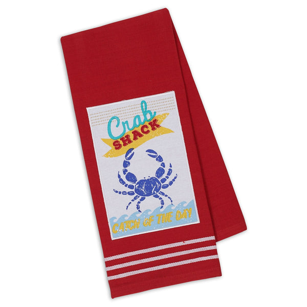 Crab Shack Catch Embellished Dishtowel - DII Design Imports