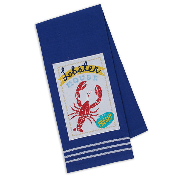 Lobster House Embellished Dishtowel - DII Design Imports