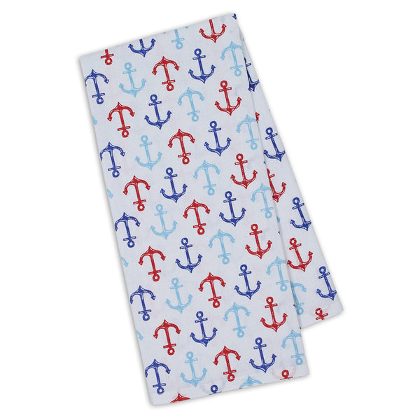 Wholesale Nauti Anchors Printed Dishtowel - DII Design Imports