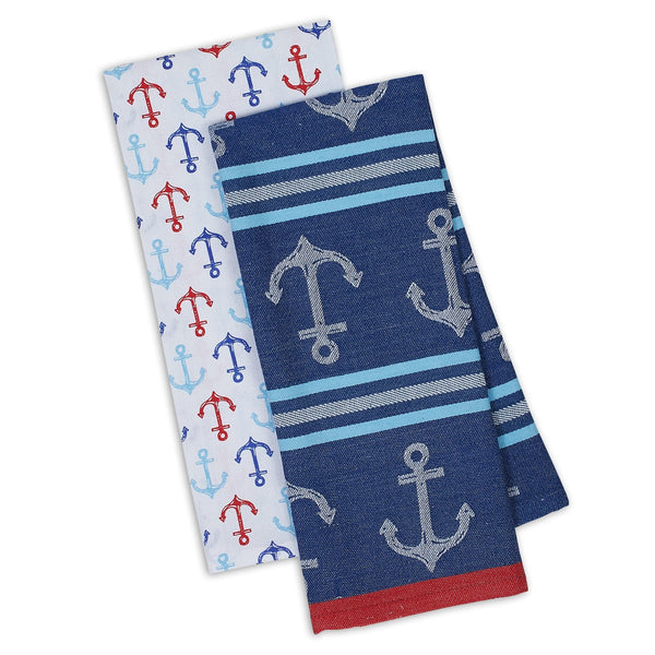 Anchors Ahoy Dishtowel Set of 2 - DII Design Imports