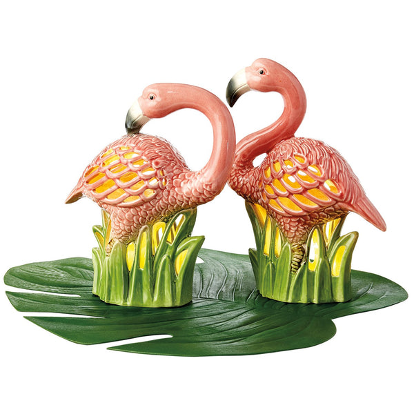 Flamingo Ceramic LED Lanterns - DII Design Imports