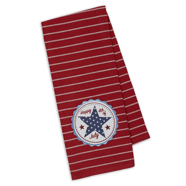 Wholesale Happy 4th Star Embellished Dishtowel - DII Design Imports