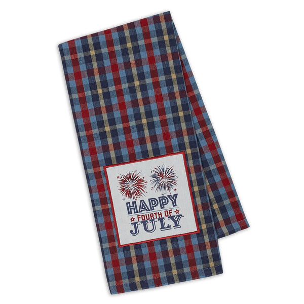 Happy 4th Fireworks Embellished Dishtowel - DII Design Imports