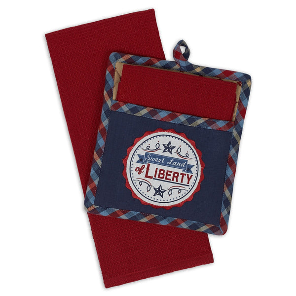 Land Of Liberty Potholder Gift Set - DII Design Imports