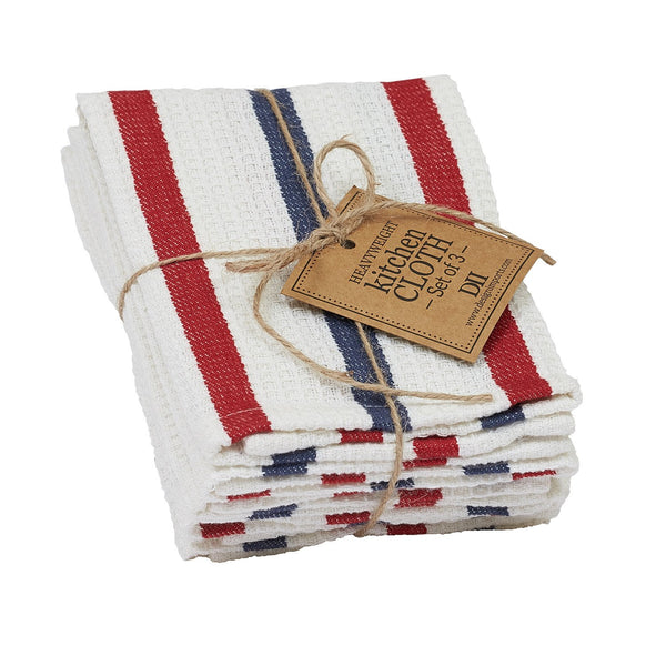 Patriot Heavyweight Dishcloth Set of 3 - DII Design Imports