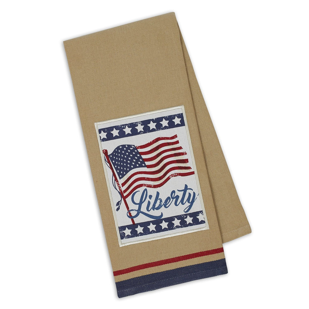 Liberty Flag Embellished Dishtowel - DII Design Imports