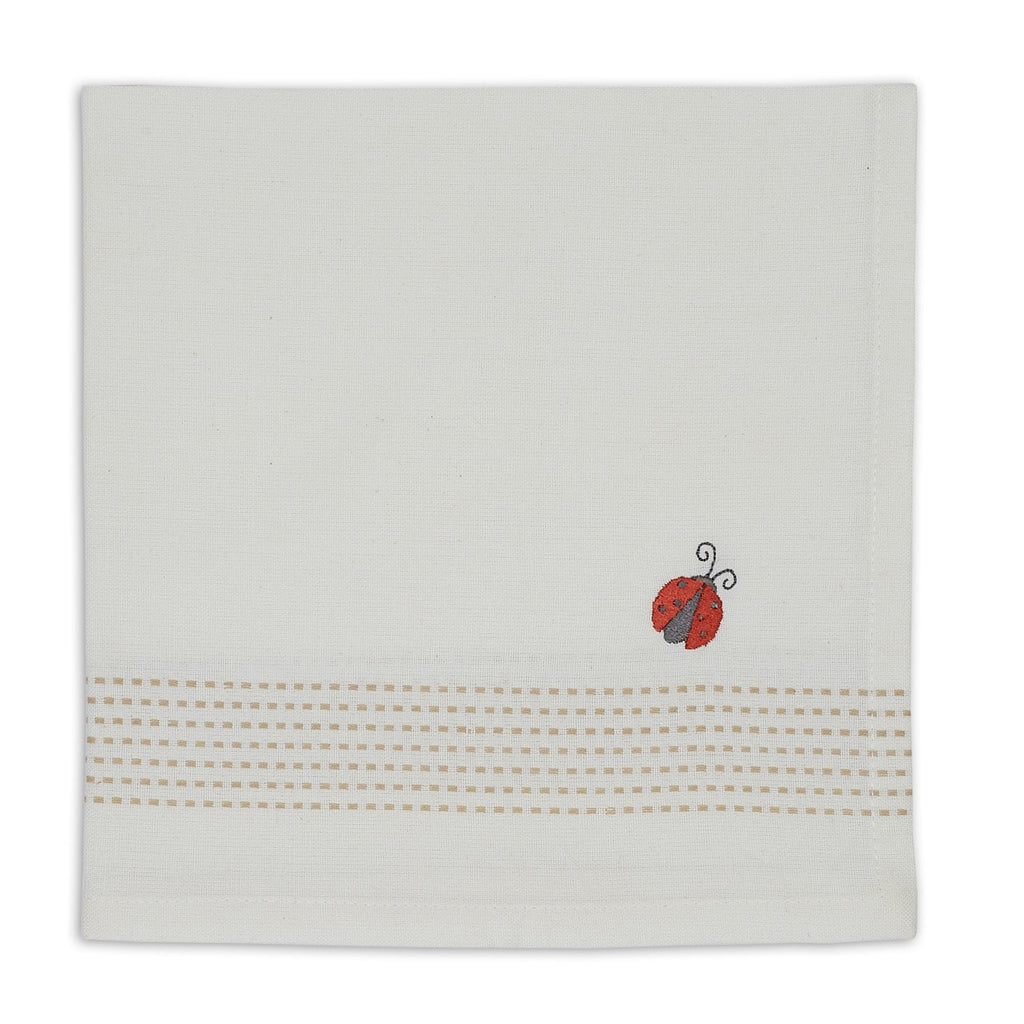 Wholesale Lady Bug Embroidered Napkin - DII Design Imports