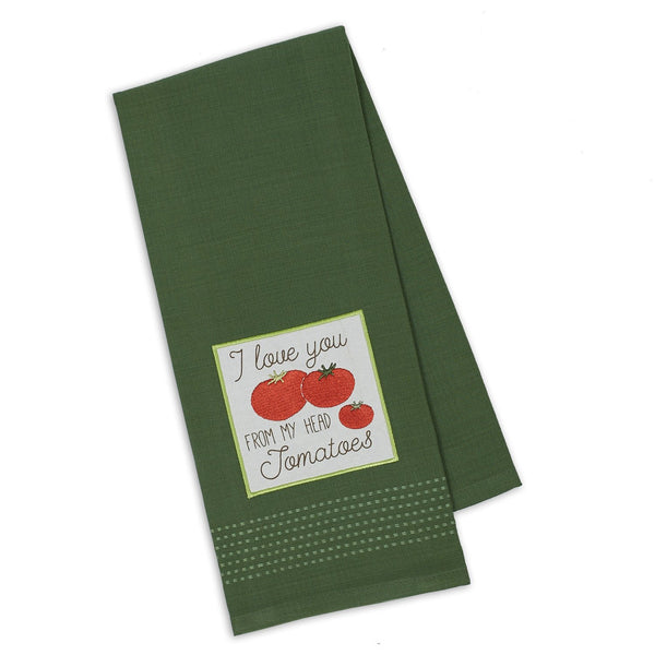 Love Tomatoes Embellished Dishtowel - DII Design Imports