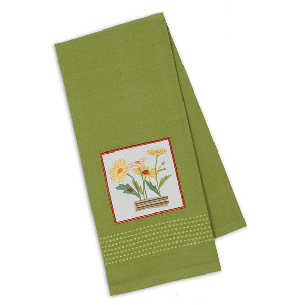 Wholesale Ladies & Daisies Embellished Dishtowel - DII Design Imports