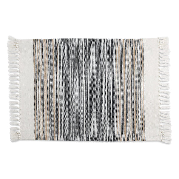 Black Striped Fringe Placemat - DII Design Imports