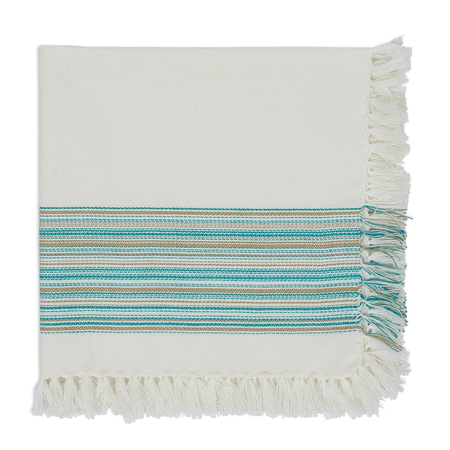 Wholesale Teal Blue Fringe Napkin – DII Design Imports