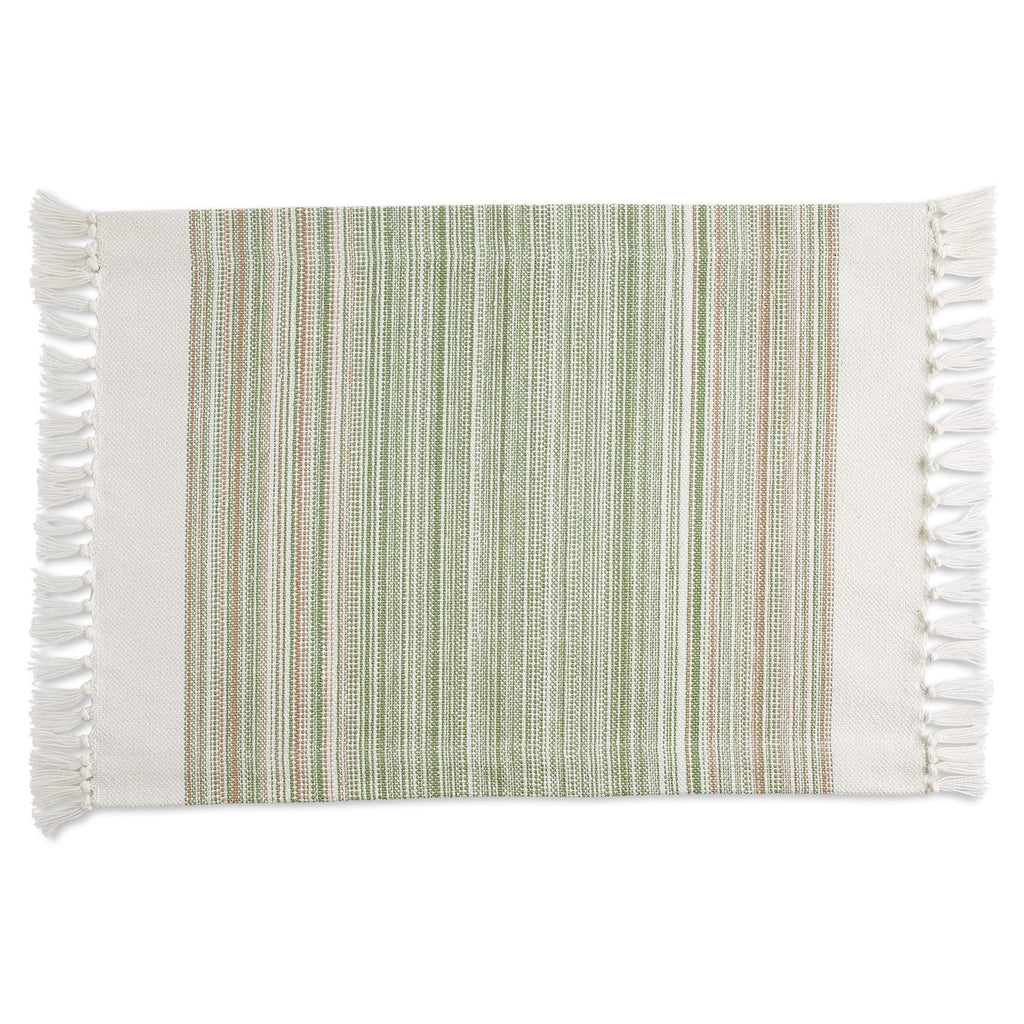 Thyme Striped Fringe Placemat - DII Design Imports