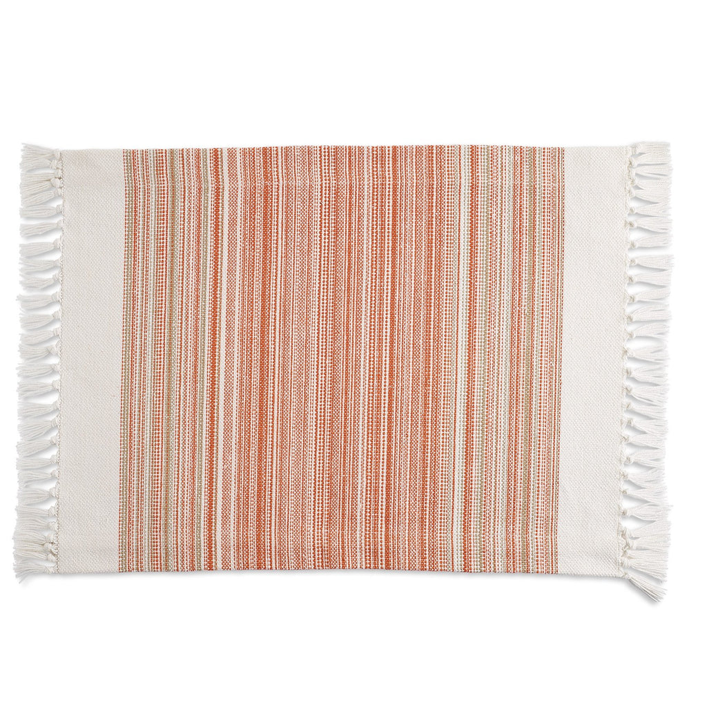 Wholesale Pimento Striped Fringe Placemat - DII Design Imports