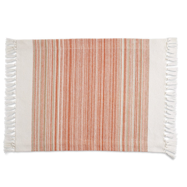 Pimento Striped Fringe Placemat - DII Design Imports