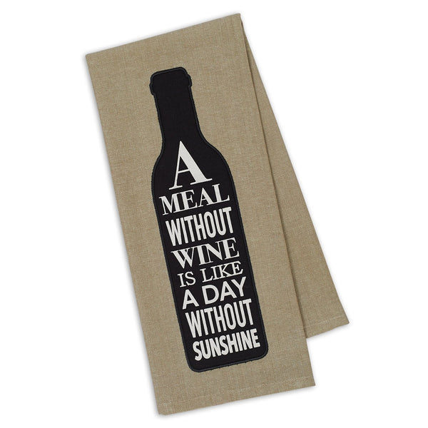 Wine & Sunshine Embellished Dishtowel - DII Design Imports