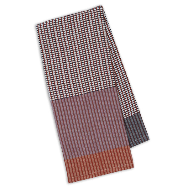 Grape/Pimento/Denim Waffle Dishtowel - DII Design Imports