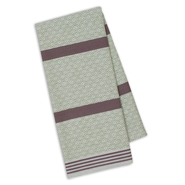 Sage/Grape Diamond Dishtowel - DII Design Imports
