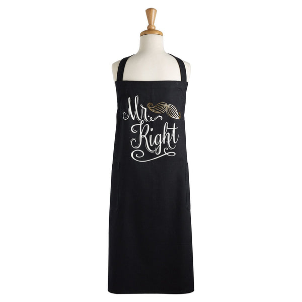 Wholesale Mr. Right Printed Chef's Apron - DII Design Imports